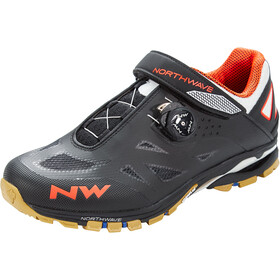 Northwave Spider Plus 2 Zapatillas Hombre, black/off white/orange